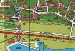 route von Hafen
